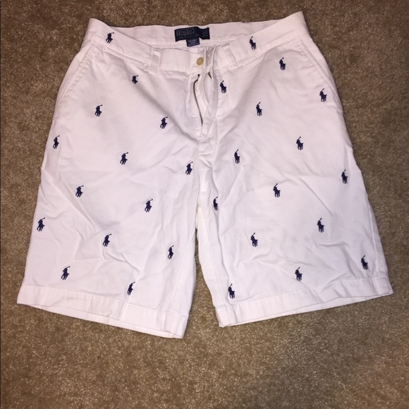 Polo By Ralph Lauren Shorts Polo Ralph Lauren Mens White With Logo